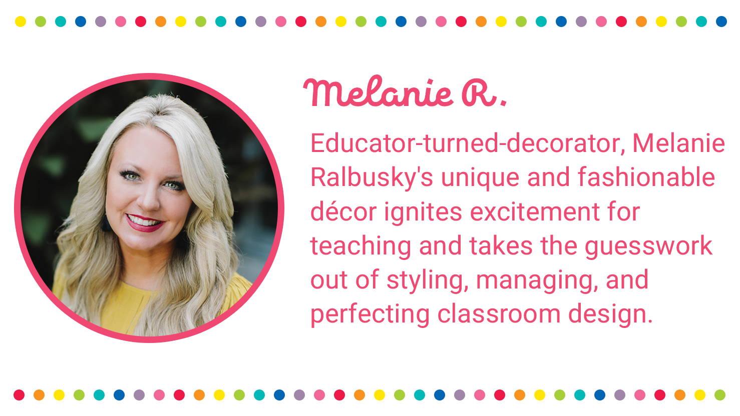 Melanie Ralbusky's Schoolgirl Style Classroom Decorations