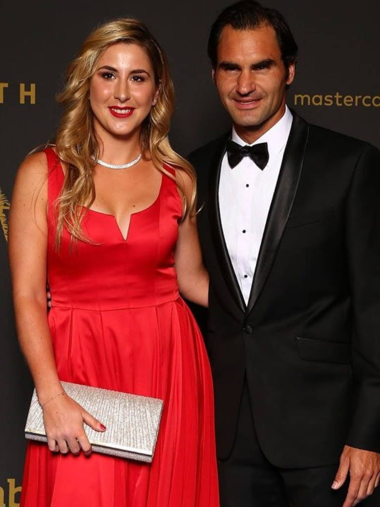 Tennis player Roger Federa wearing Daniel Hechter at the New Years Eve Gala in Perth