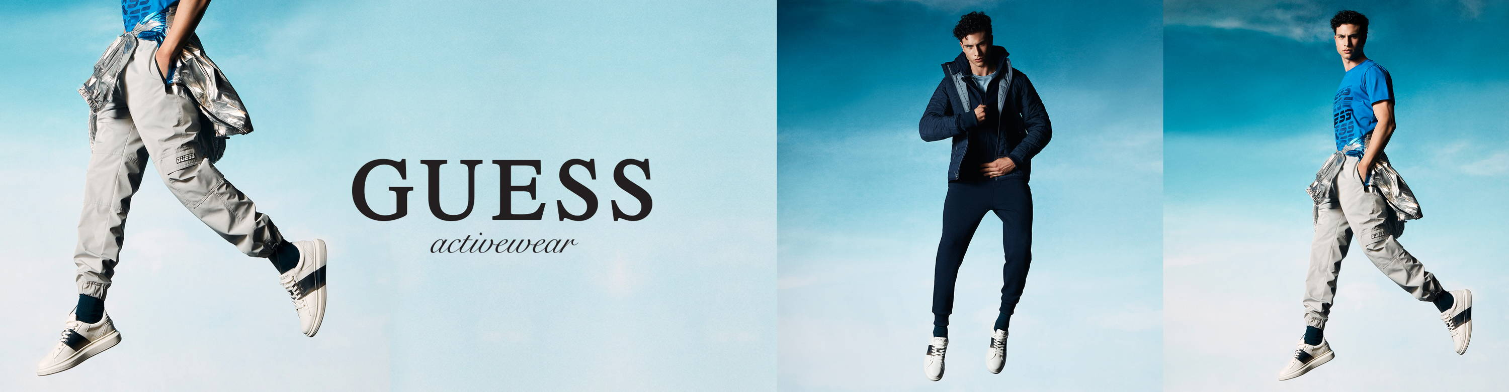 Guess mens activewear campaign image desktop and tablet
