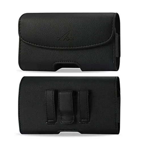 Motorola Moto G8 Play Leather Pouch with Belt Clip