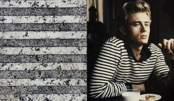 James Dean wore his striped shirt in 'Rebel Without a Cause' in the 1960′s Beat Generation.