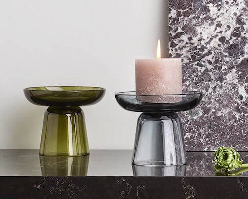 Contemporary candle holders from iittala.