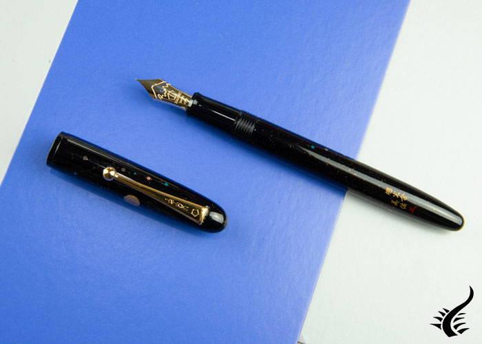 Namiki Yukari Shooting Star Raden Fountain Pen, Urushi, FN-20M-RNB