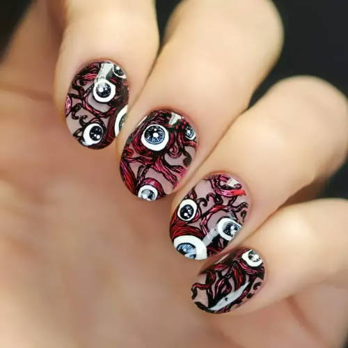 nails with eye nerves design
