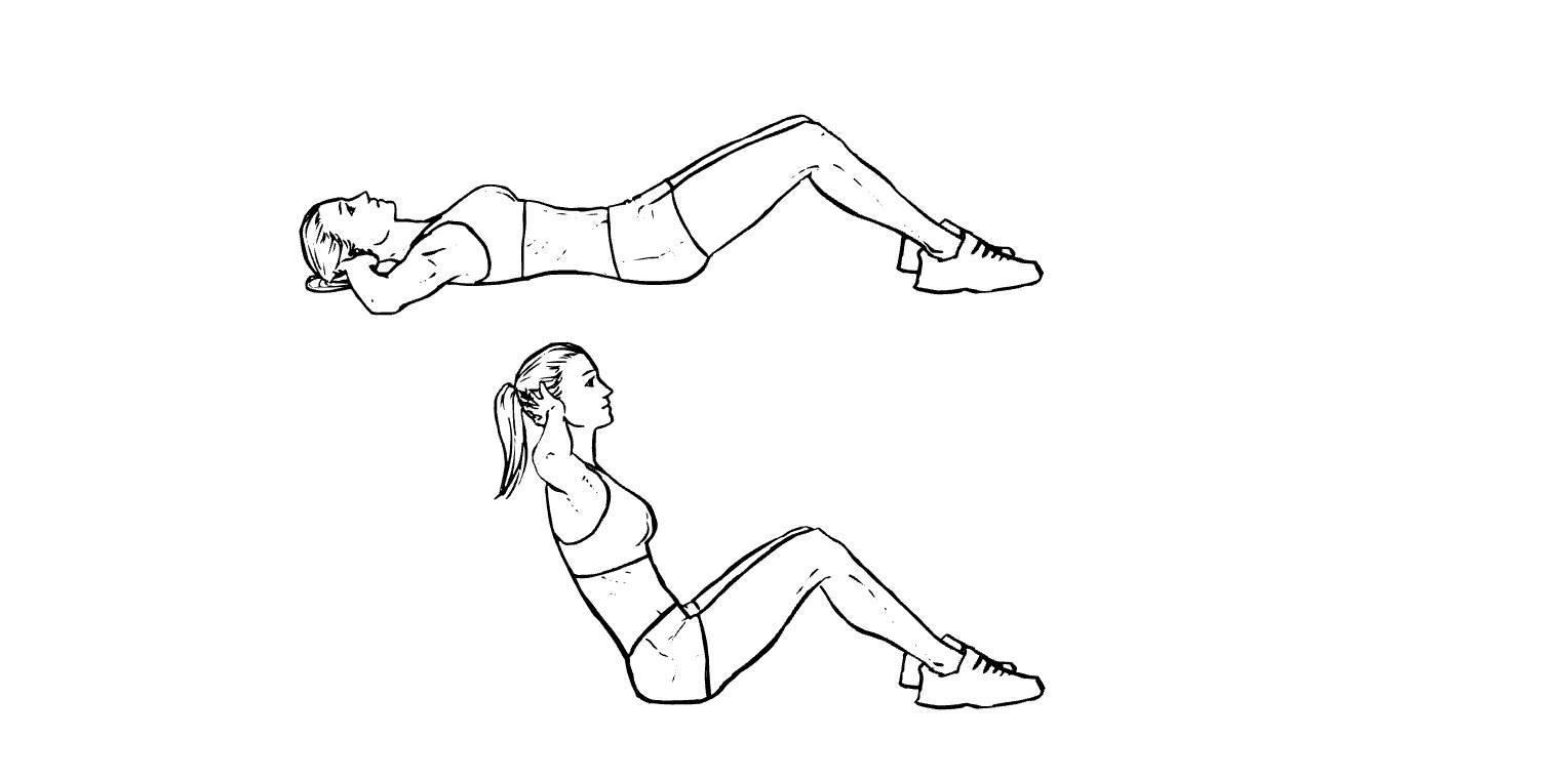 упражнения для рук и пресса в картинках завтра
