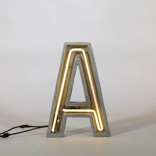 Seletti Alphacrete Neon Lamp
