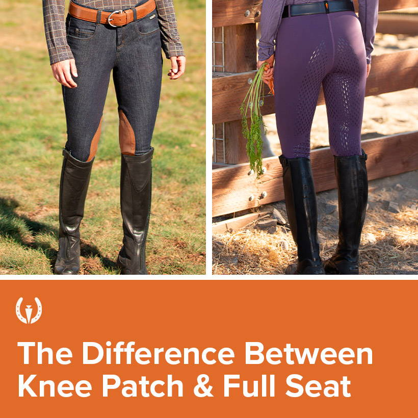 Kerrits explains the difference between Knee Patch and Full Seat Riding Pants