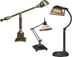 Traditional, Antique Reproduction, Art Deco & Art Nouveau Desk Lamps