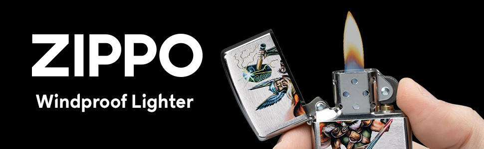 Mythical Zippo Windproof Lighters top banner