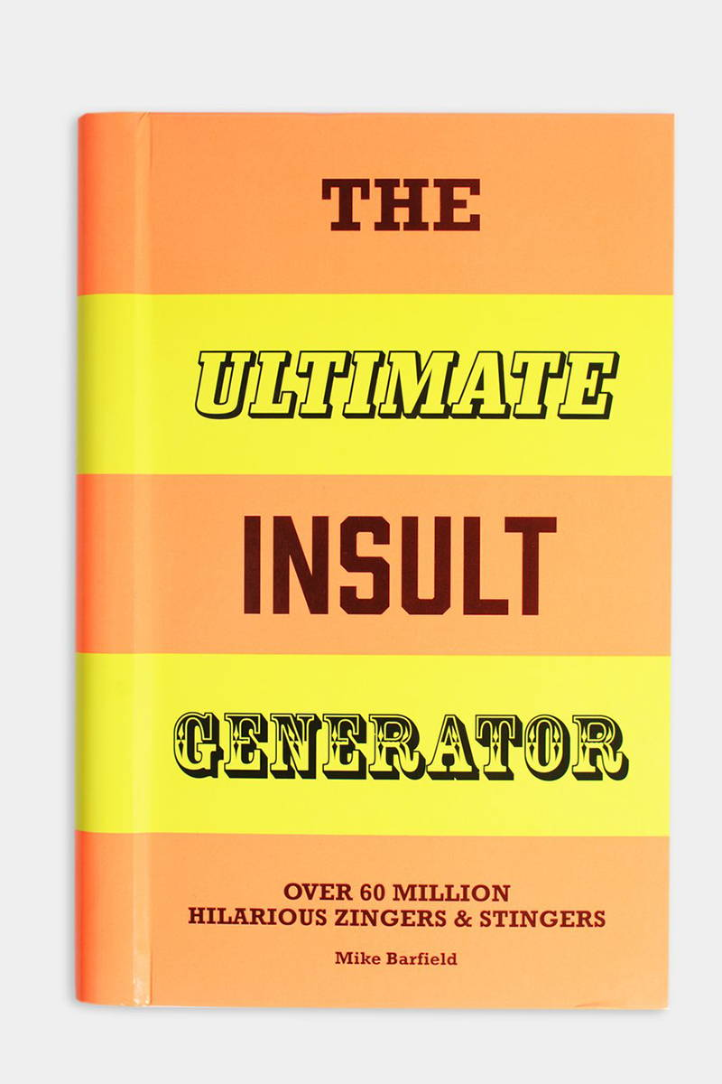 Product photograph of the book 'The Ultimate Insult Generator' from The Hambledon