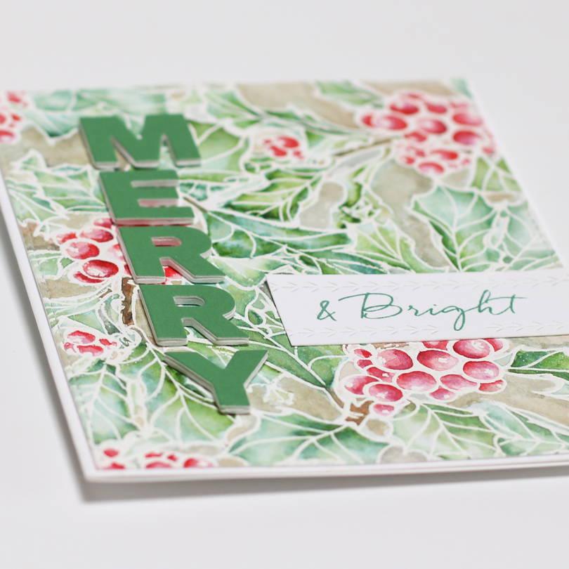 Essentials by Ellen Mondo Holly card closeup