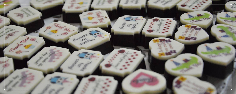 Thank you chocolates with birthday theme