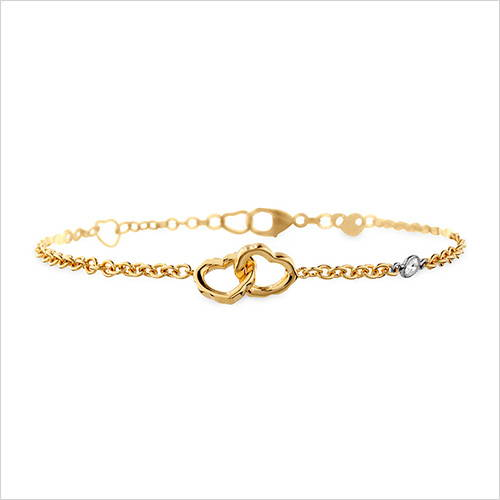 Heart Yellow Gold Bracelet
