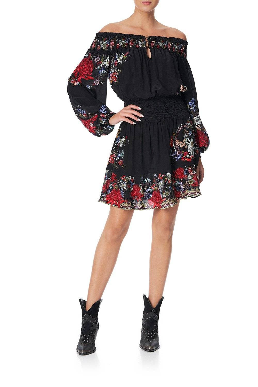 MS MATILDA OFF SHOULDER SHORT DRESS