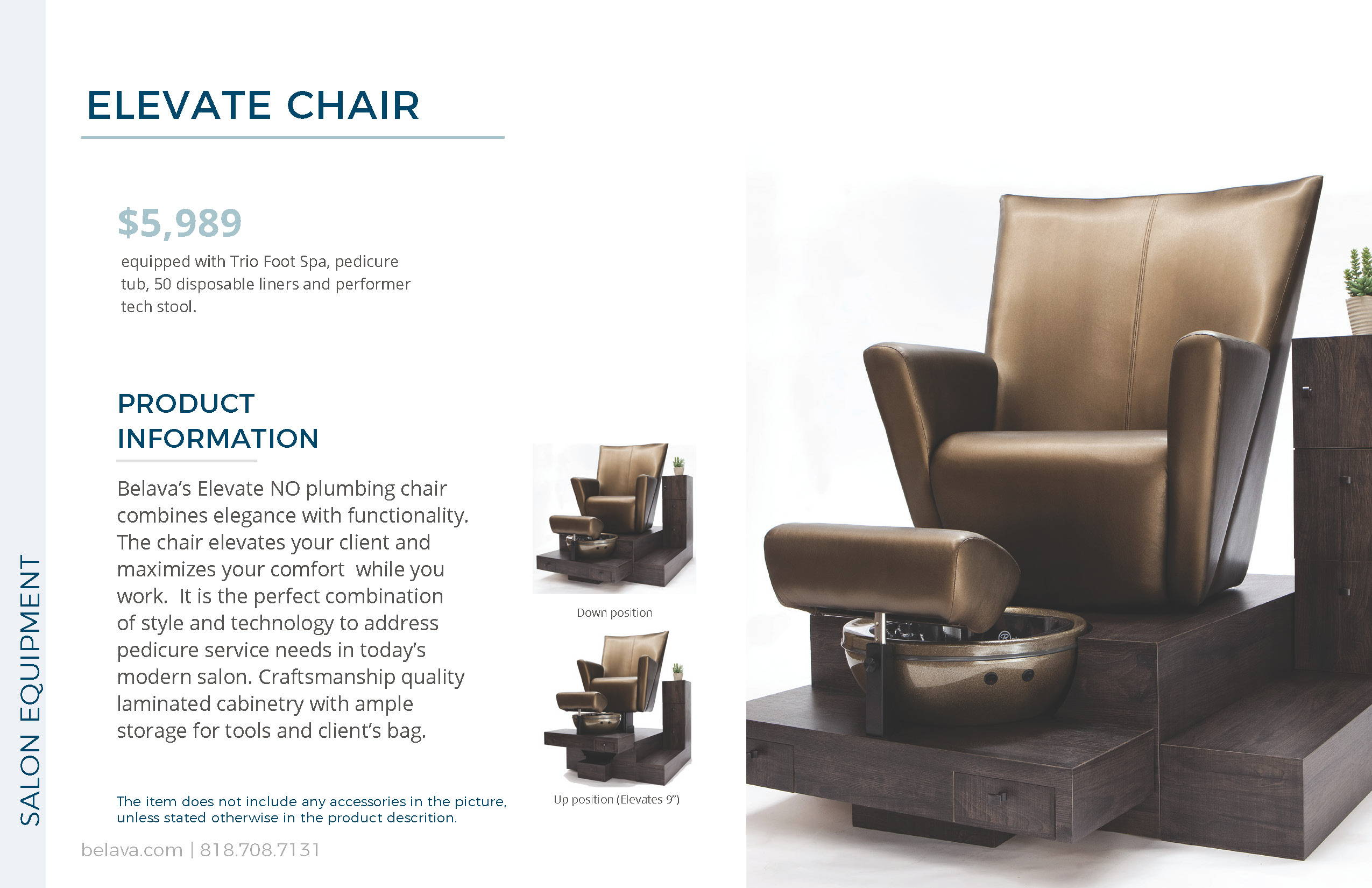 Elevate Pedicure Chair by Belava
