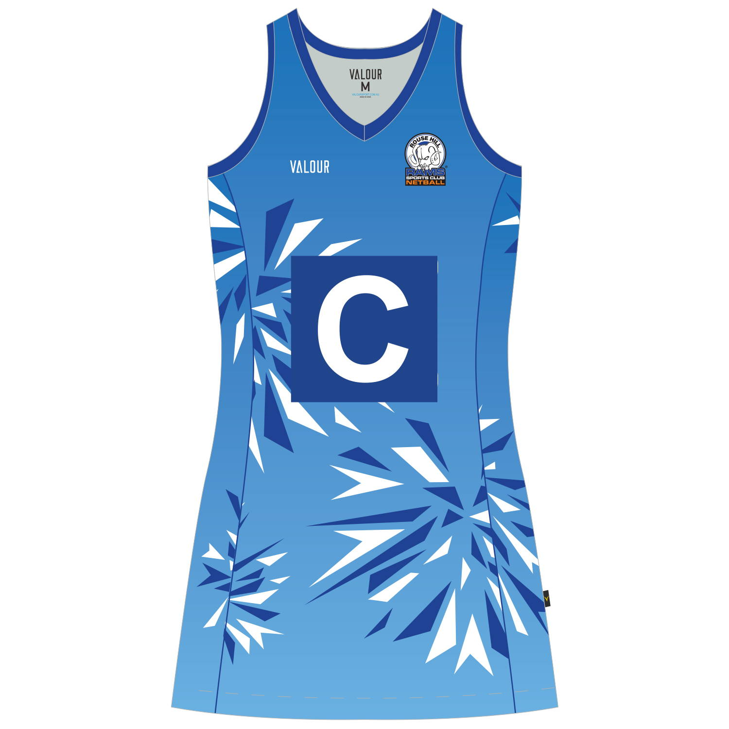 A preview of the new Rouse Hill RAMS Netball Clun NanoFuse Netball Dress