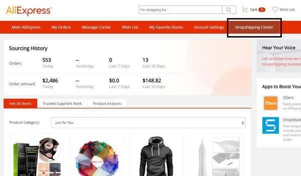 Aliexpress Dropshipping Center - Profitable Winning Produkte finden