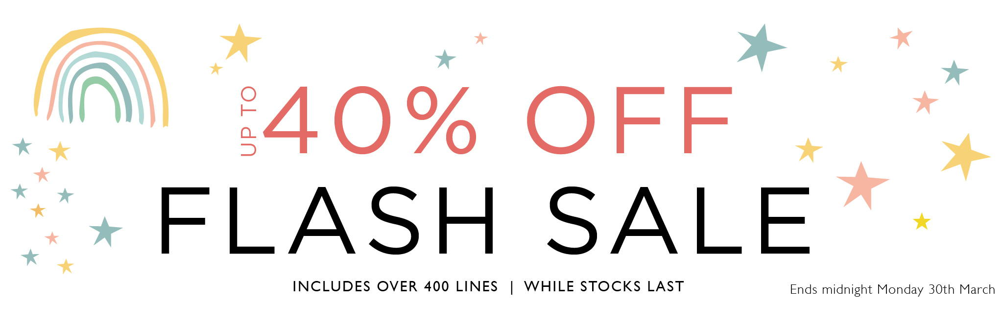 Up to 40% off Flash Sale