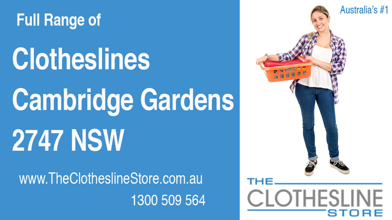 New Clotheslines in Cambridge Gardens 2747 NSW