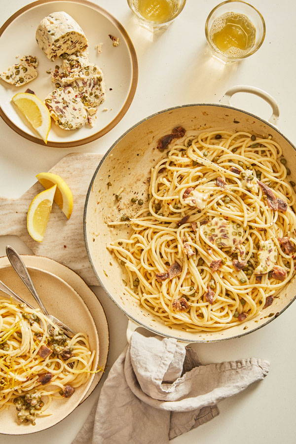 5 Ingredient Anchovy Caper Butter Pasta Recipe