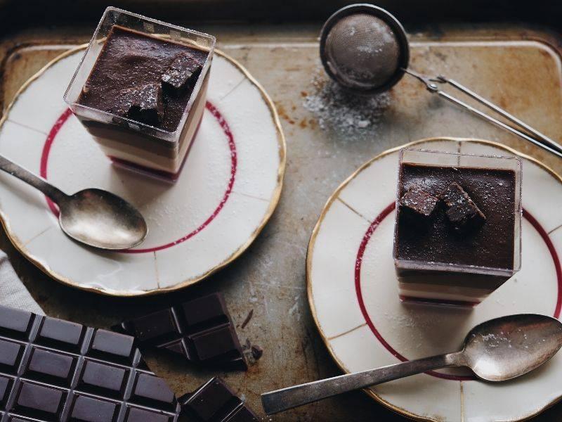 verrines aux trois chocolats la boite du chef
