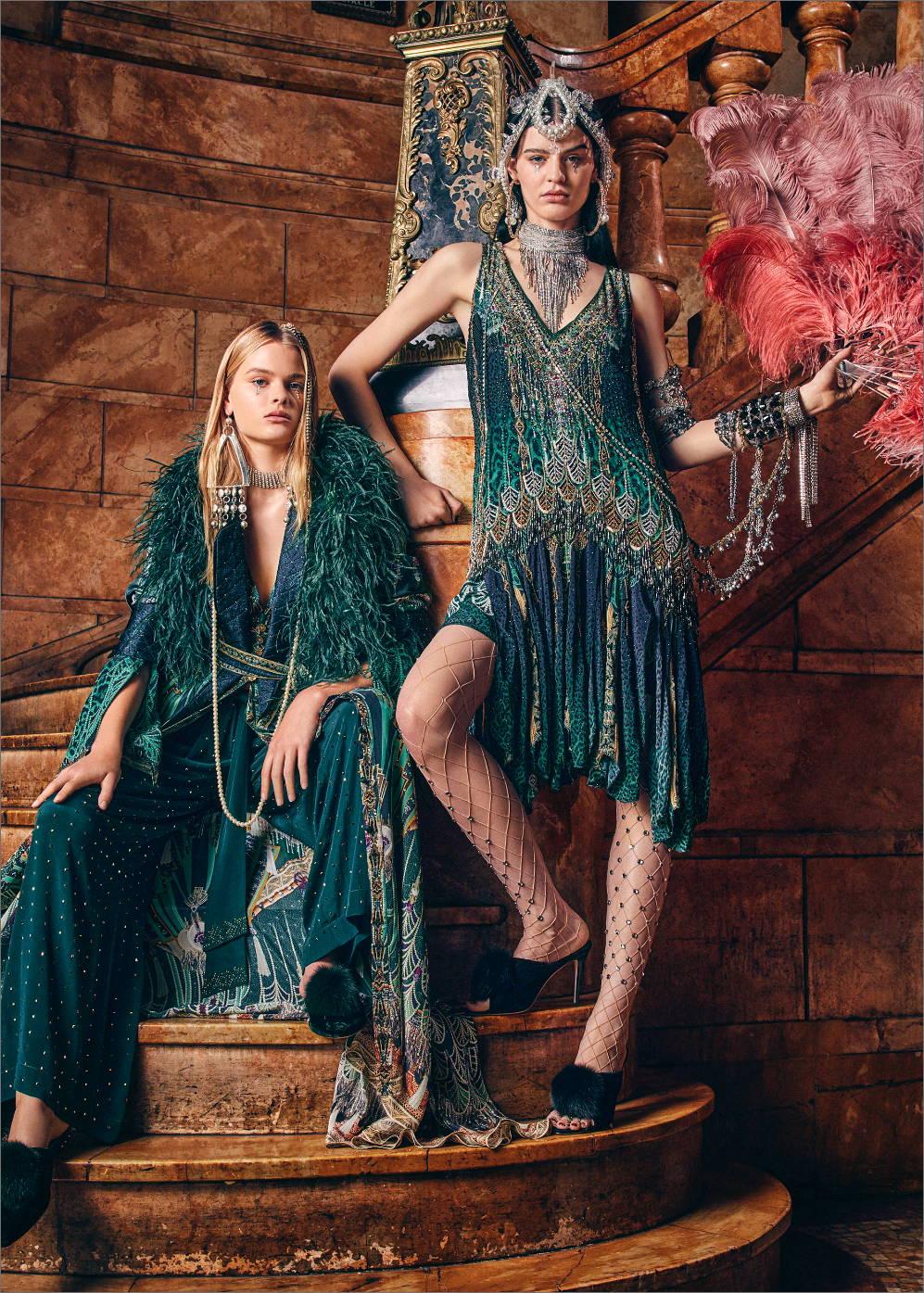 CAMILLA New Arrivals, CAMILLA Green Art Deco Print