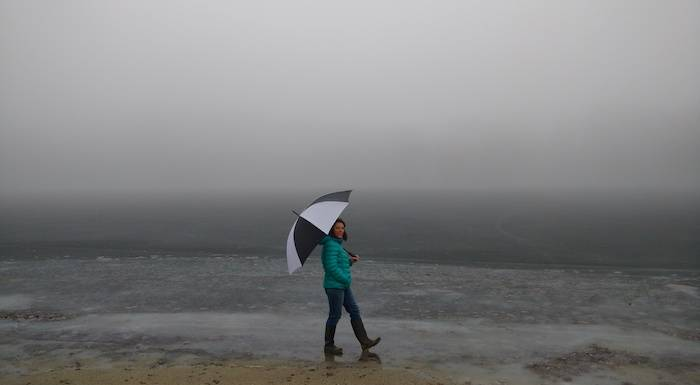rainy beach weather won't ruin your happiness