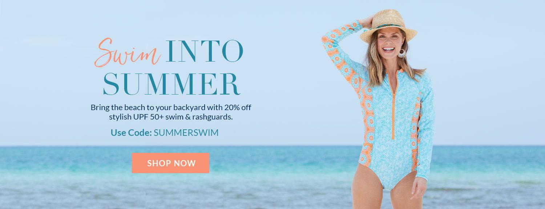 Swim Into Summer with code SUMMERSWIM