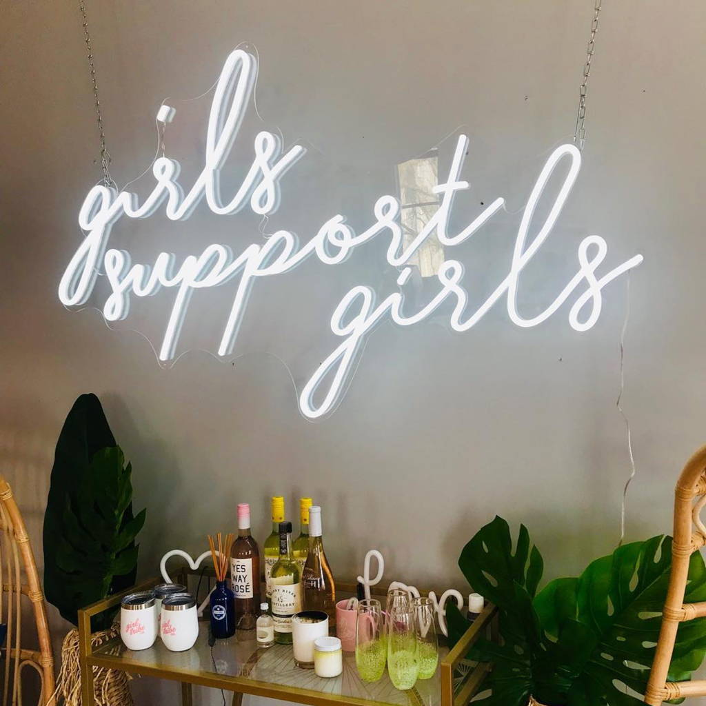 Brite Lite neon sign for home girls support girls