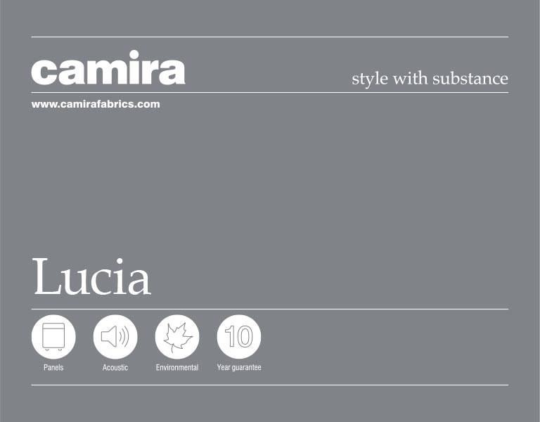 Click here to view the Camira Lucia Acoustic Fabric Swatch