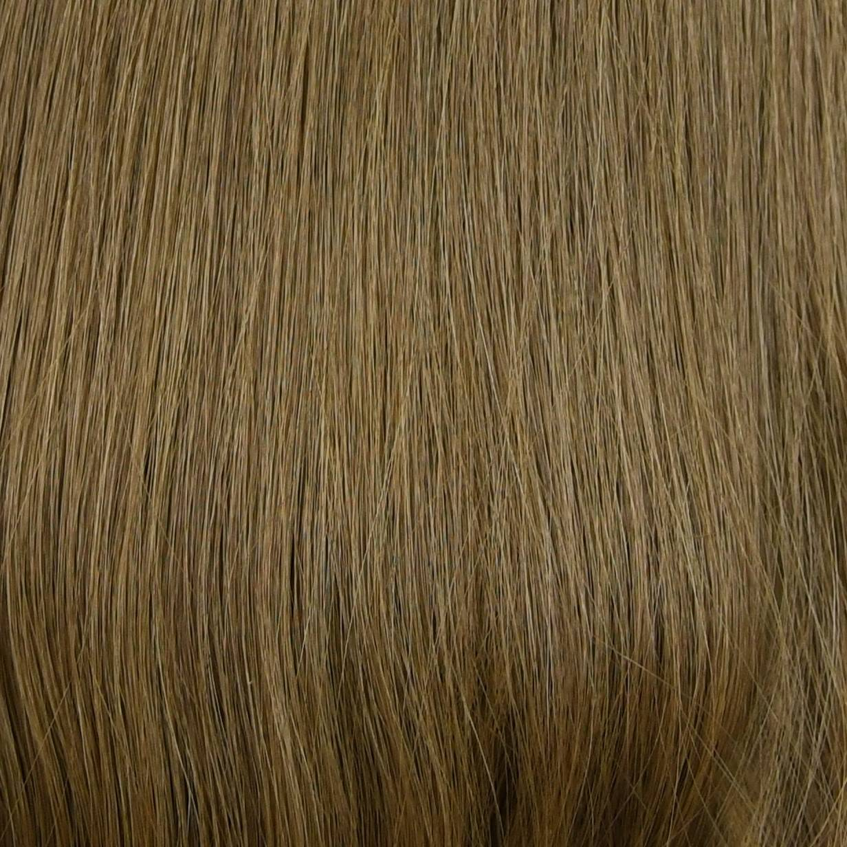 blend of light golden and light brown hair extensions color sample in hair color chart
