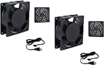 Cooling fans for outdoor digital signage