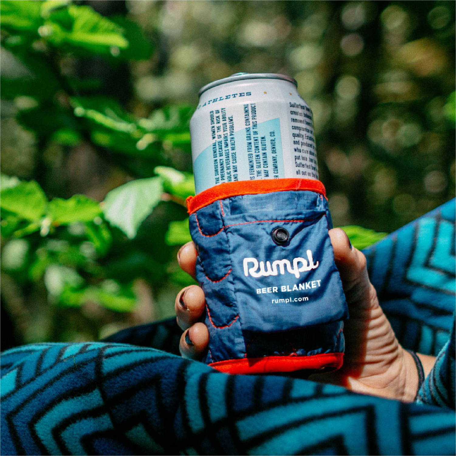 Rumpl Beer blanket the ultimate packable beer koozie