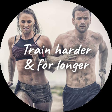 Male and Female athletes exercising