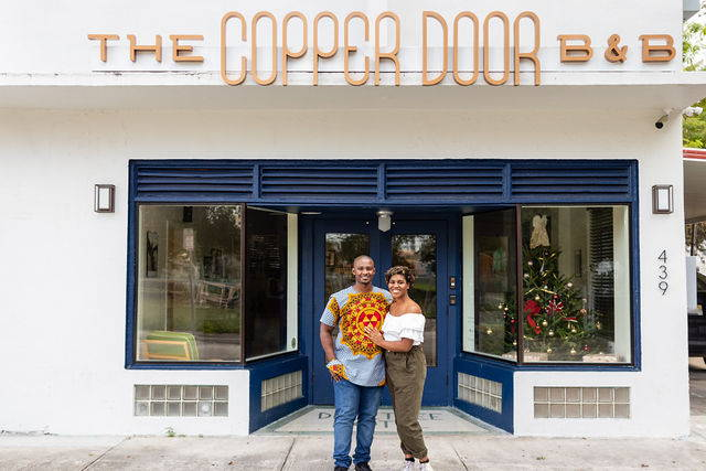 Founders of The Copper Door B&B, Jamila Ross and Akino West.