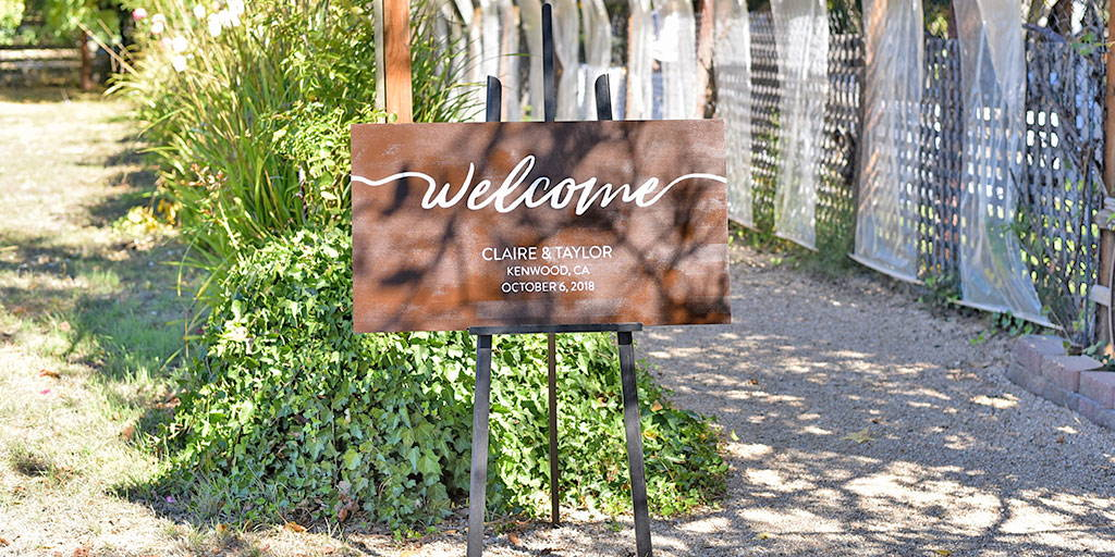 Custom Wedding Welcome Sign