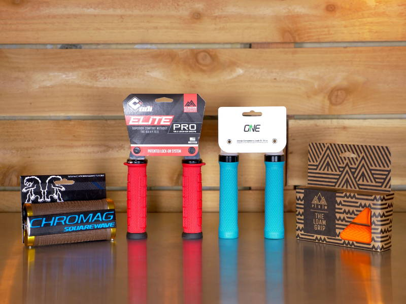 mountain bike mtb grip grips oneup one up odi elite pro pnw components loam chromag squarewave brown red teal orange