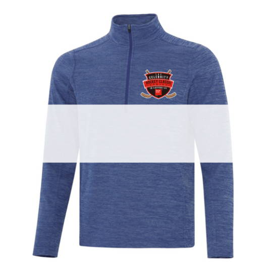 Custom screen printed or embroidered 1/2 zip and 1/4 zip sweaters from Sanmar Canada The Authentic T-Shirt Company (ATC)