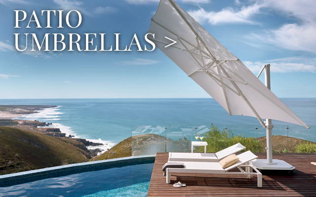 Patio Umbrellas from Treasure Garden, Bambrella & Galtech
