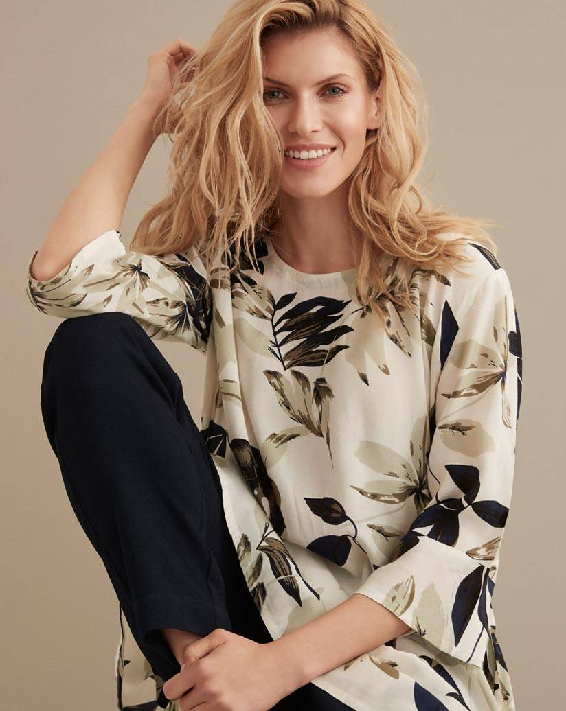 Floral Print Tunic on Model