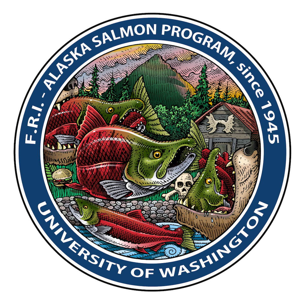 University of Washington Alaska Salmon Program Logo