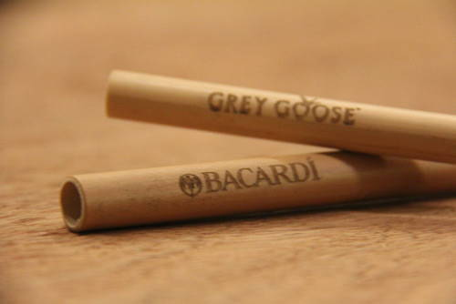 wholesale bamboo straws with customised logo