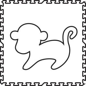 SoftTiles Monkey Foam Play Mat Shape