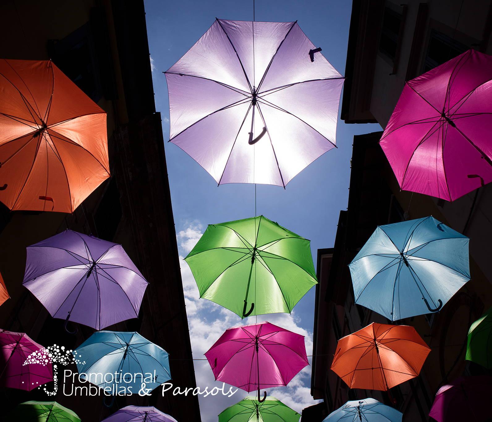 promotional umbrellas at the umbrella festival
