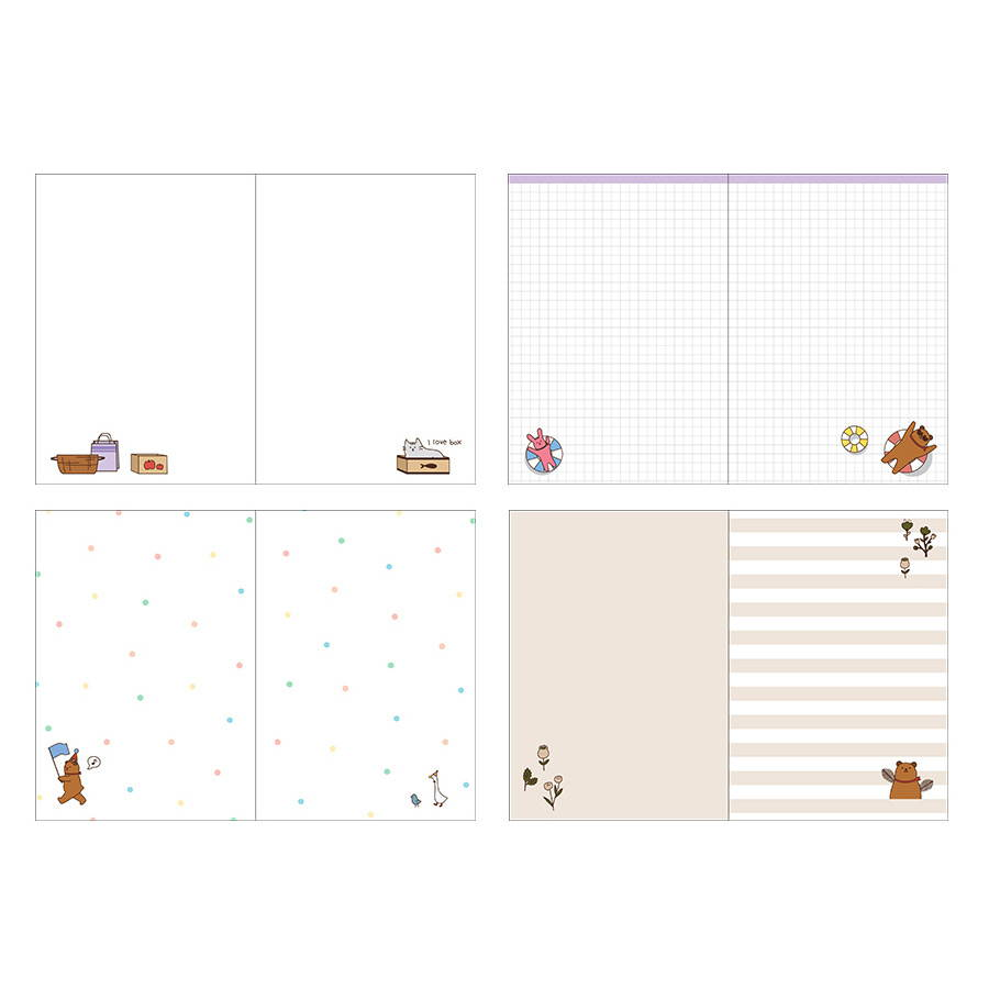 Free note - Monopoly 2020 Toffeenut friends dated weekly diary planner