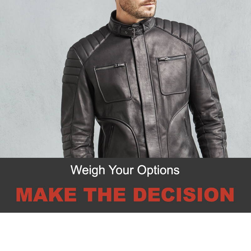 Invest in a Belstaff leather jacket