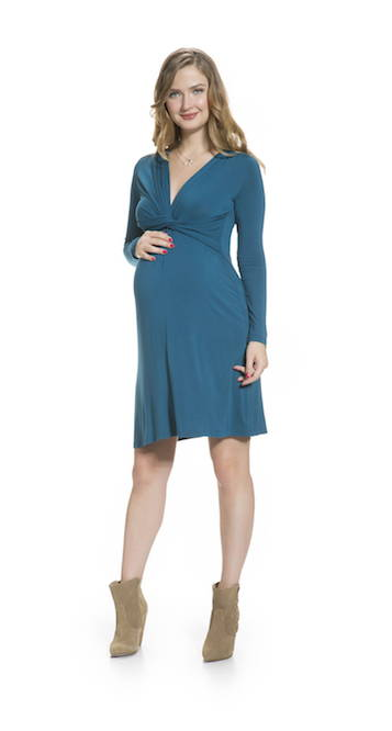 Front Twisted Maternity and Nursing Dress