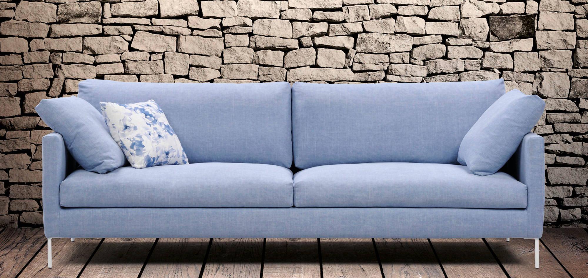 Donna-sohva, sininen kangas. HT Collection