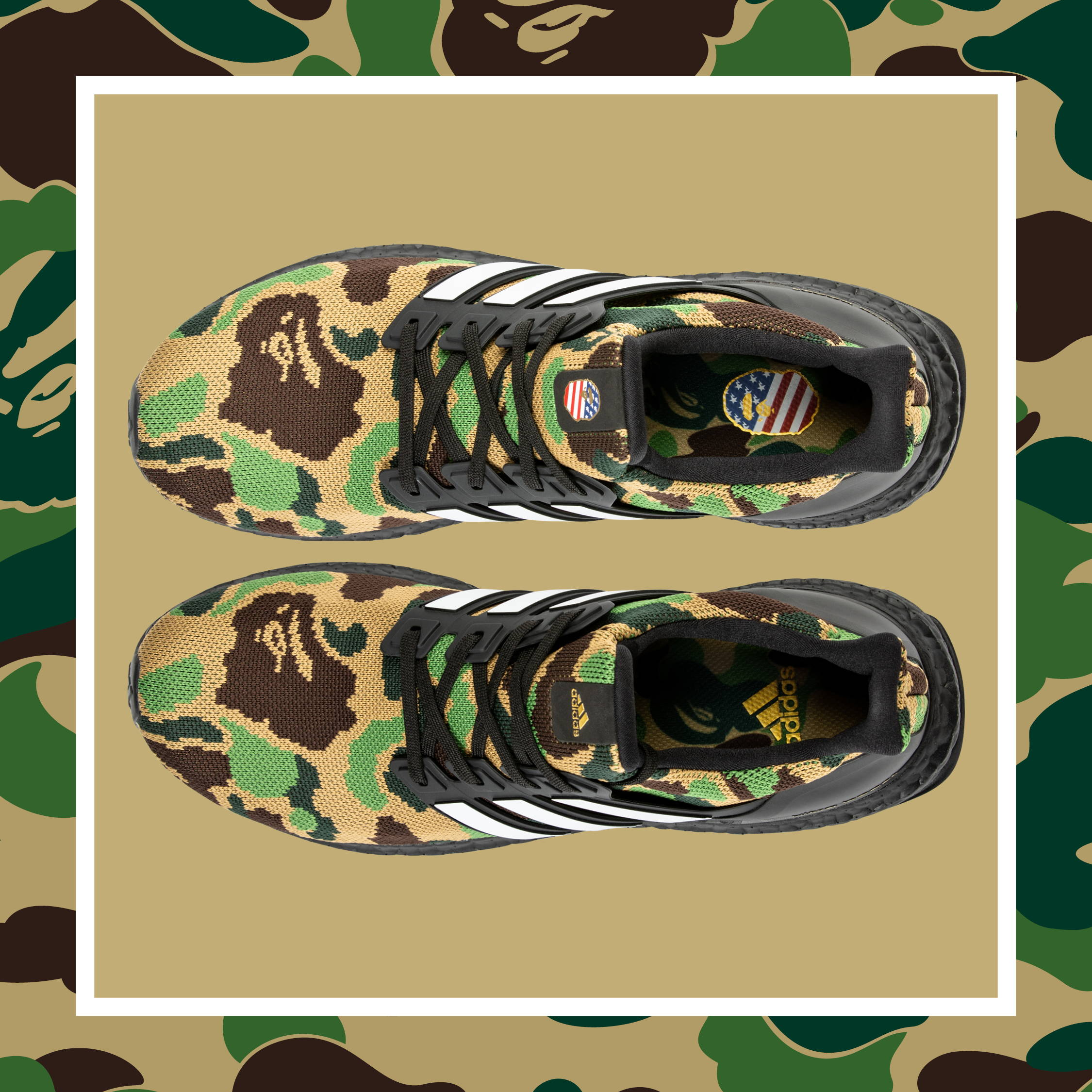 3be04a7a To celebrate one of the biggest sporting events of the year, adidas has teamed  up with iconic Japanese streetwear brand A Bathing Ape® (BAPE®) for a ...