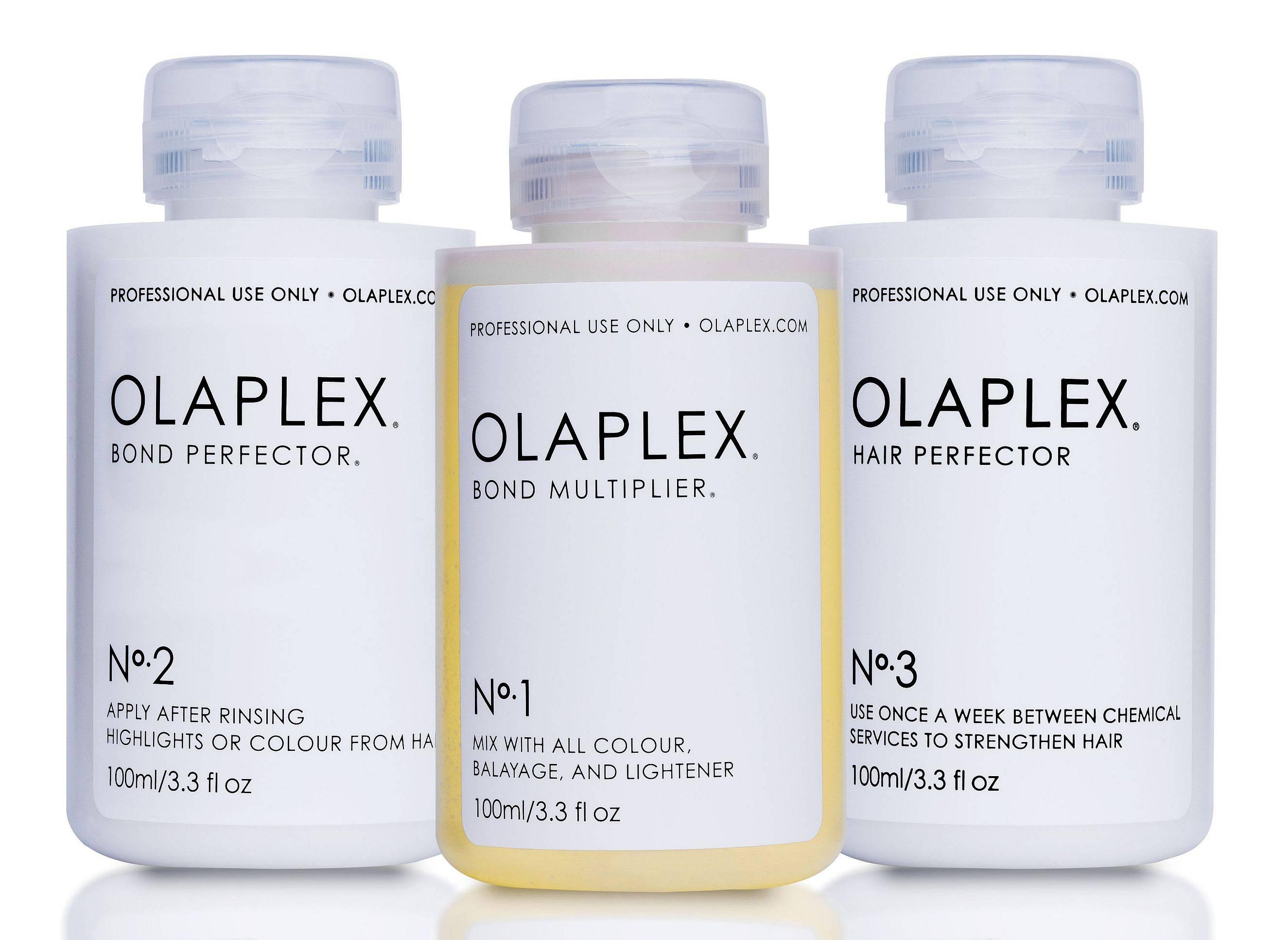 olaplex flaschen nummer 1, 2 und 3